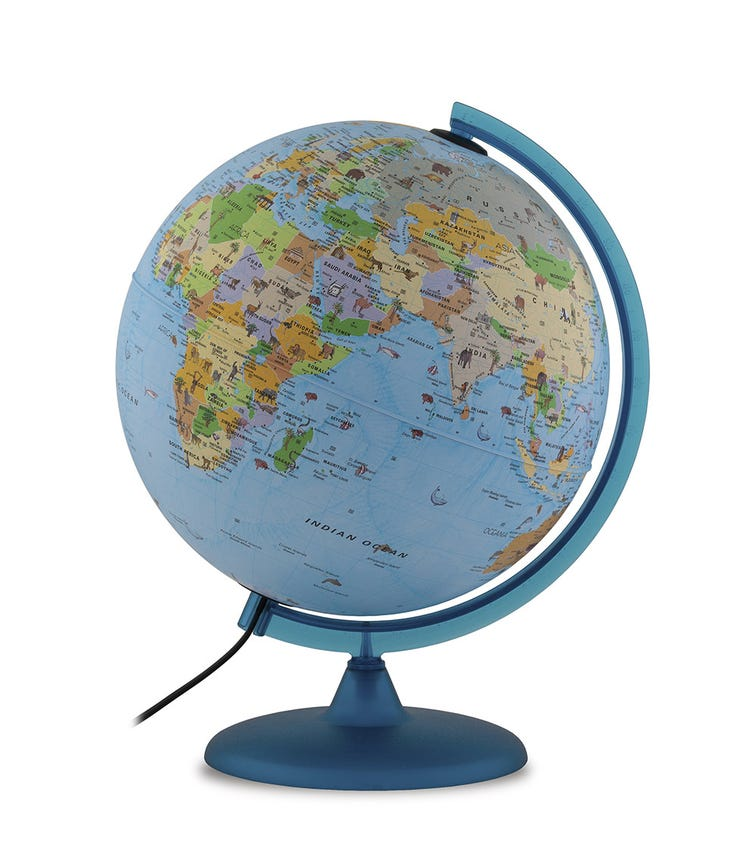 TECNODIDATTICA Illuminated And Revolving Globe - Babylon (30 CM Diameter)