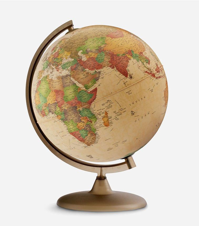 TECNODIDATTICA Illuminated And Revolving Globe - Discovery Antique Style (30 CM Diameter)