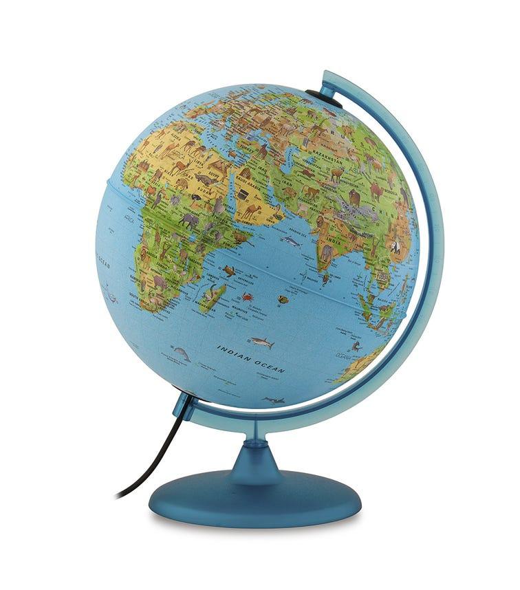 TECNODIDATTICA Illuminated And Revolving Globe - Safari (30 CM Diameter)