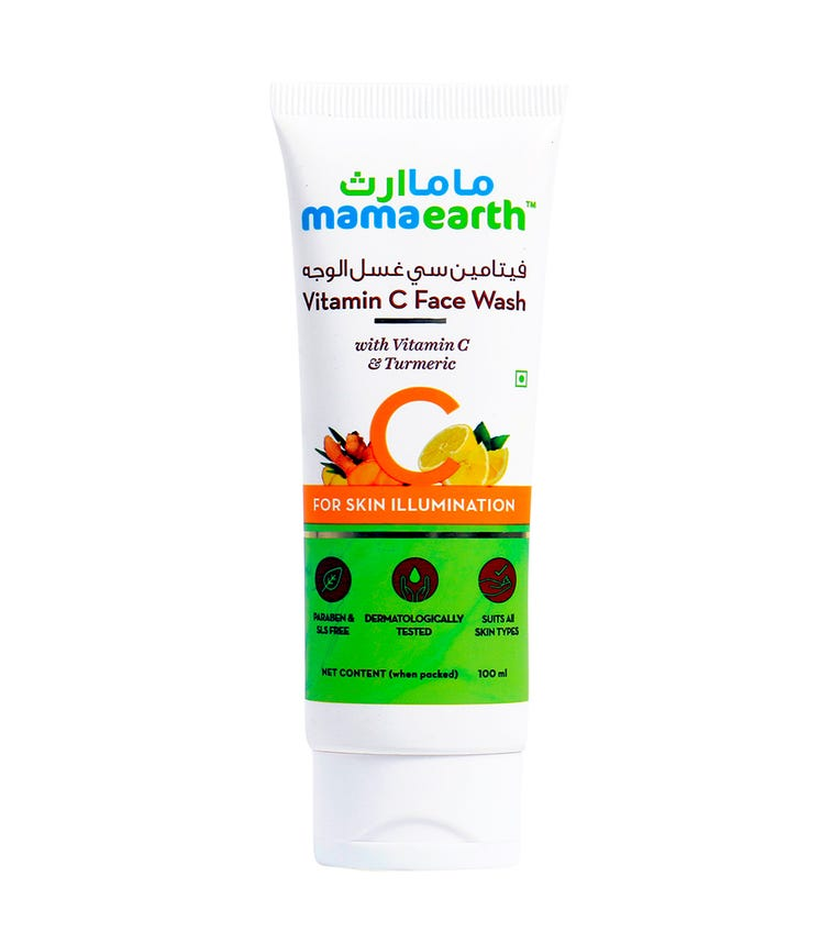 MAMAEARTH Vitamin C Face Wash With Turmeric For Skin Illumination 100 ML