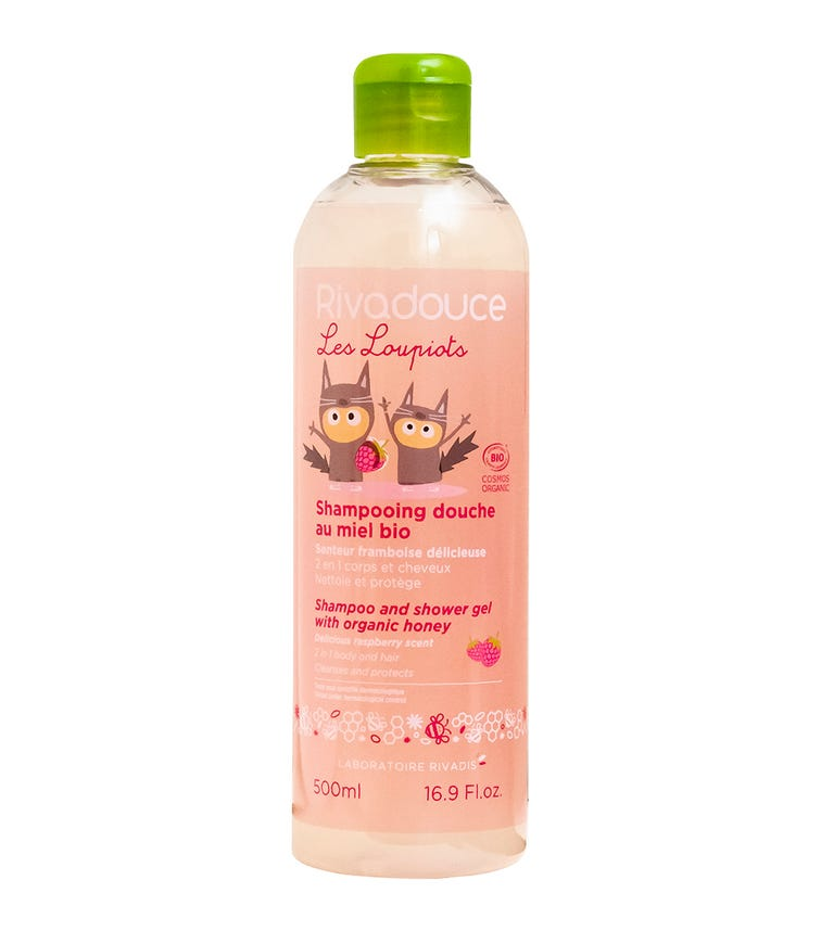 RIVADOUCE Rivadouce Shampoo And Shower Gel With Organic Honey - Raspberry 500 ML