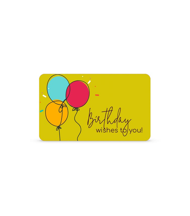 Birthday Wishes E-Gift Card
