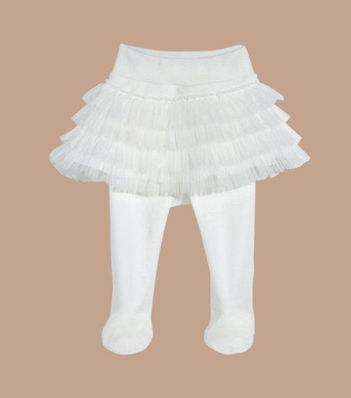 SOFIJA Layered Ivory Tulle Pants