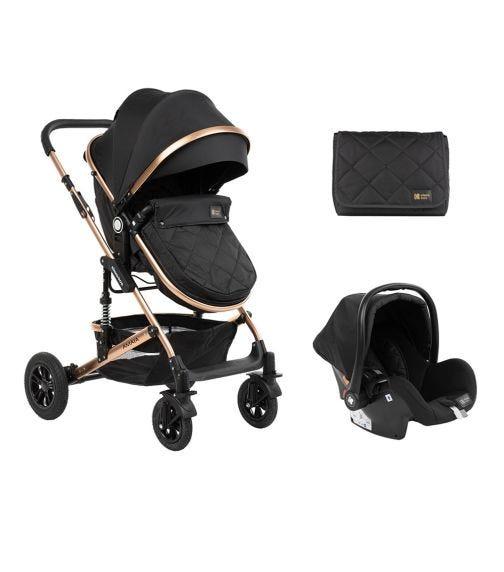 KIKKABOO Stroller 3-In-1 Amaia - All Black