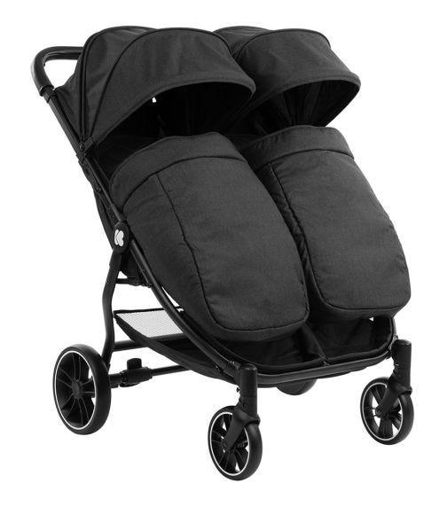 KIKKABOO Stroller For Twins Happy 2 2020 - Black