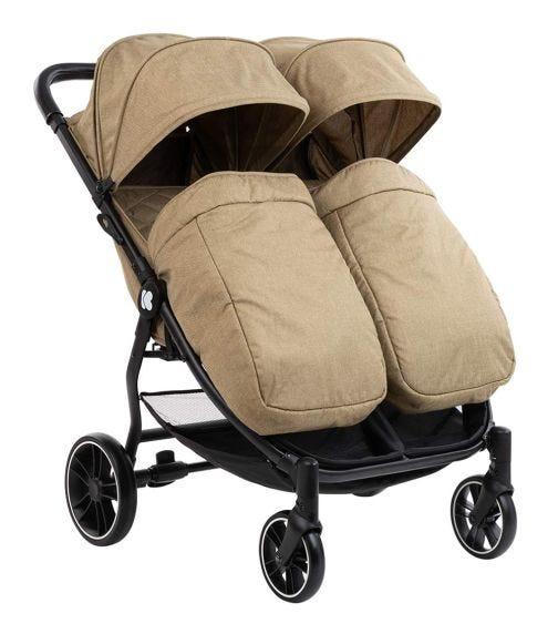 KIKKABOO Stroller For Twins Happy 2 2020 - Beige