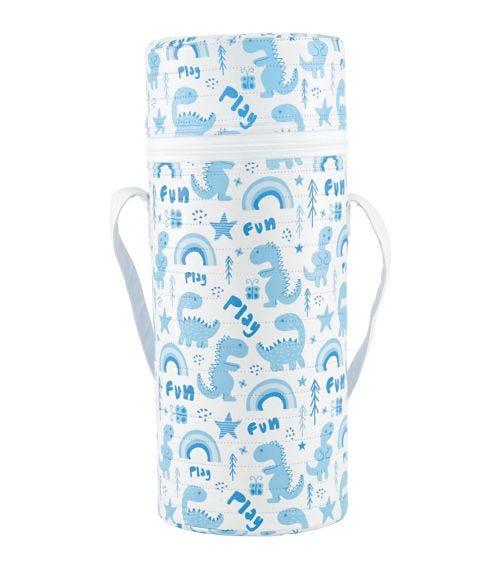 KIKKABOO Single Wide-Neck Feeding Bottle Insulator - Blue
