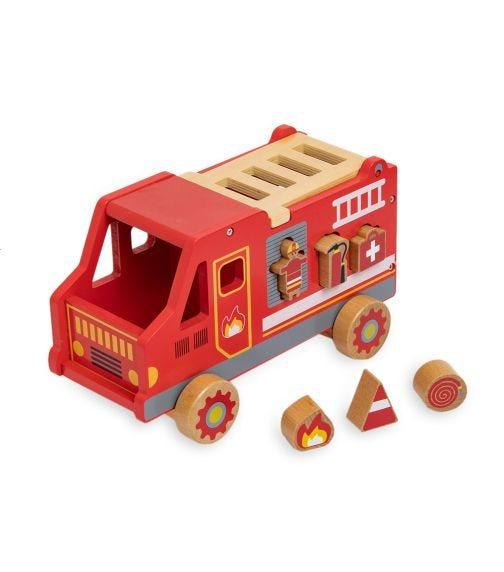 JOUECO Shape Sorter Fire Truck