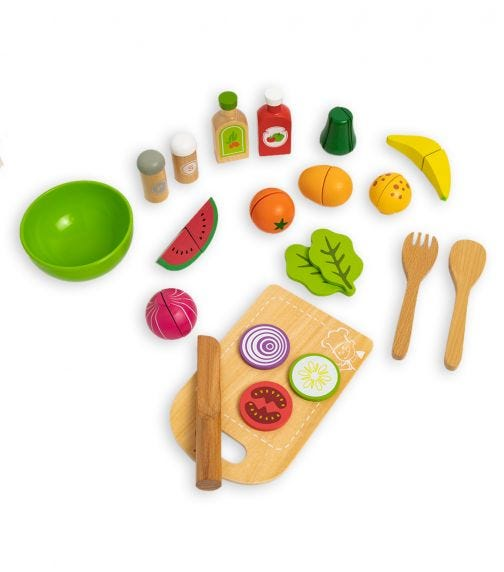 JOUECO Salad Set In Wooden Tray