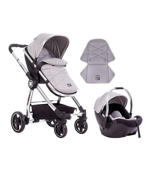 KIKKABOO Stroller 3-In-1 Allure 2020 - Grey Silver Chrome