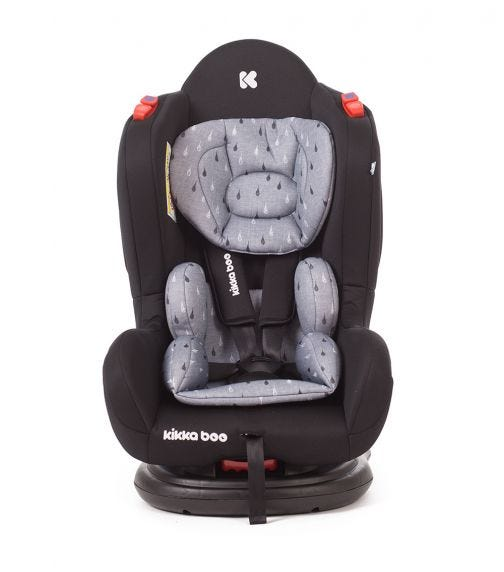 KIKKABOO Car Seat 0-1-2 (0-25KG) Hood 2020 - Black