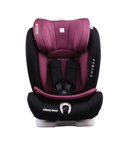 KIKKABOO Car Seat 1-2-3 (9-36 KG) Viaggio - Raspberry