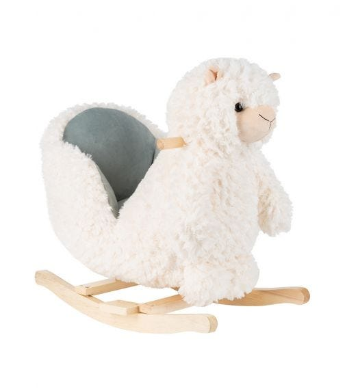 KIKKABOO Soft Rocking Toy With Seat - Lama