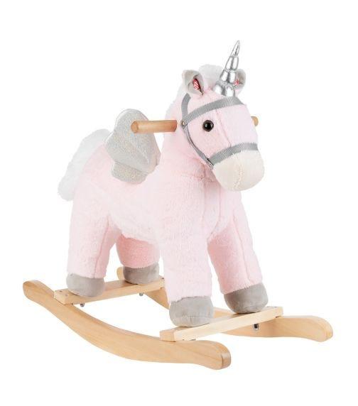 KIKKABOO Soft Rocking Toy With Sound - Pink Horse