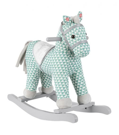 KIKKABOO Soft Rocking Toy With Sound - Green Horse