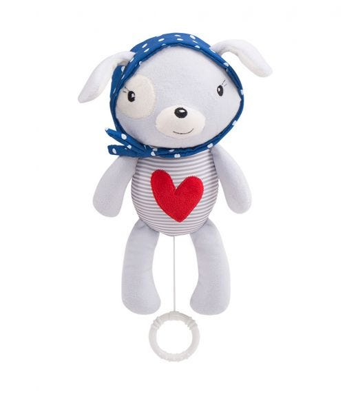 KIKKABOO Love Rome Musical Toy For Bed - Red Heart