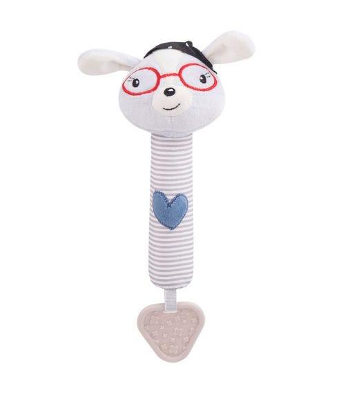 KIKKABOO Love Rome Squeaker Toy - Blue Heart