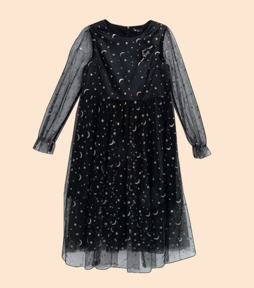 CHOUPETTE Gold And Applique Printed Mesh Dress