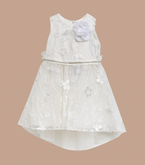 CHOUPETTE Flowers And Feathers Decorated Poofy Dress