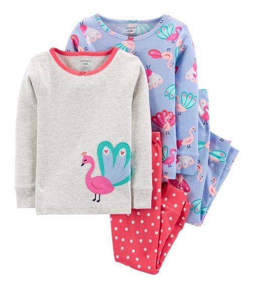 CARTER'S 4-Piece Peacock Cotton PJs