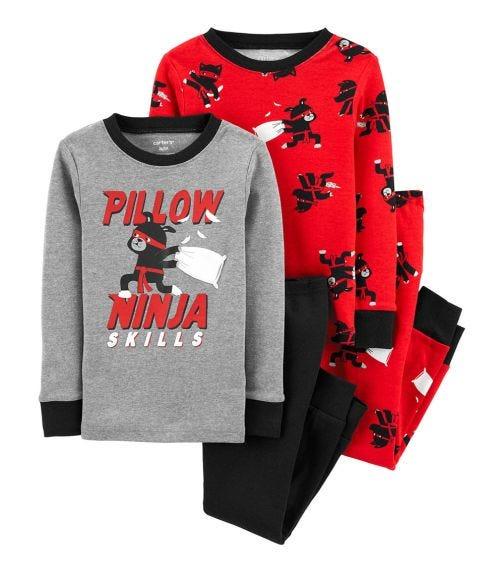 CARTER'S 4-Piece Ninja Cotton PJs