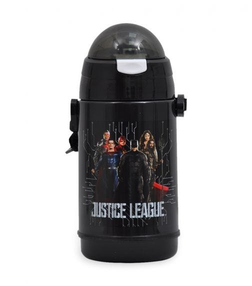 JUSTICE LEAGUE Silver Edition Water Bottle