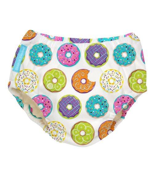 CHARLIE BANANA Reusable Swim Diaper (Large) - Delicious Donuts