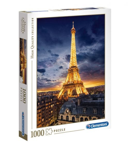 CLEMENTONI Puzzle Night View Of Eiffel Tower 1000 Pieces
