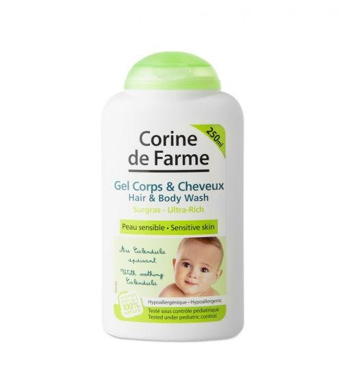 CORIN DE FARME Baby Hair And Body Wash (Sulfate Free) 250 ML