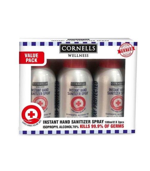 CORNELLS Hand Sanitizer Spray 100 ML X 3 Value Pack