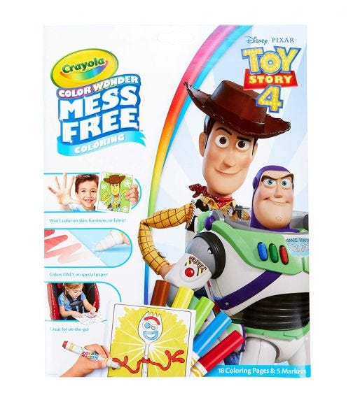 CRAYOLA Color Wonder Coloring Pad & Markers Toy Story 4