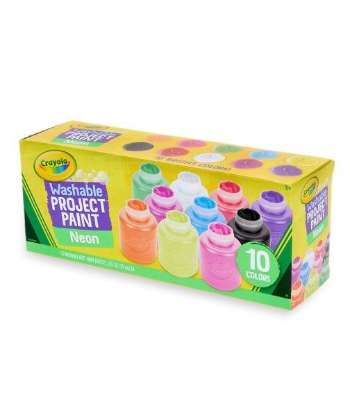 CRAYOLA 10 Crayon Set 2Oz Neon Paint Set