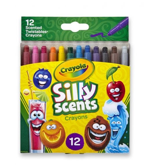 CRAYOLA 12 Crayon Set Silly Scents Mini Twistables Scented Crayons