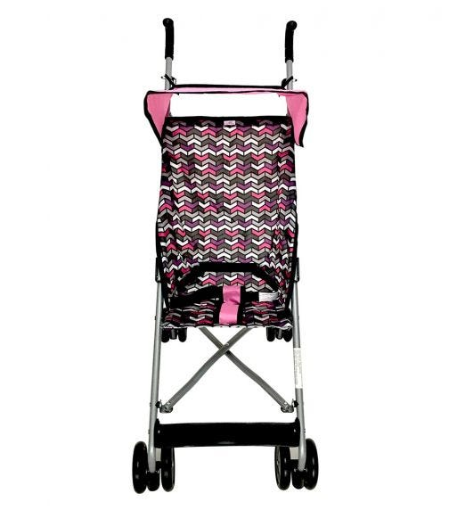 CUDDLES Buggy With Canopy Pink Multi-Geometric