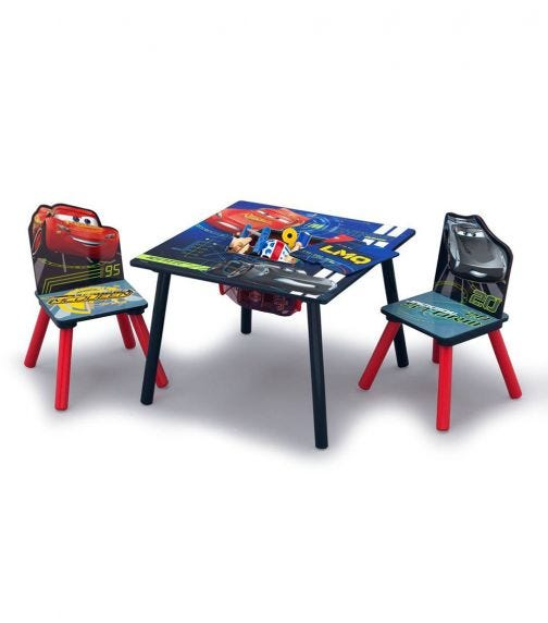 DELTA CHILDREN Cars Table & Chair Set With Storage