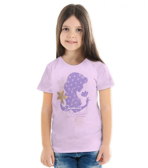 DISNEY Jasmine Girls T-shirt Lilac