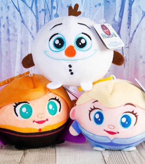 DISNEY FROZEN 2 Squeezy Palz With Clip (3.5 inches)