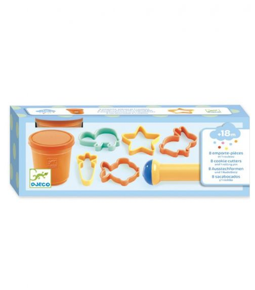 DJECO 8 Dough Cutters And Rolling Pin