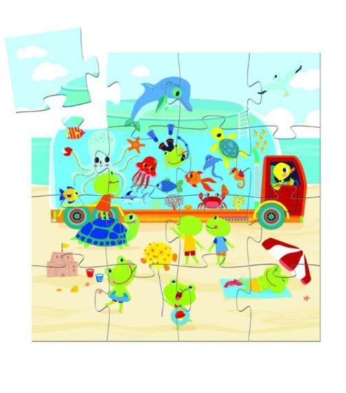 DJECO Aquarium Puzzle - 16 Pieces