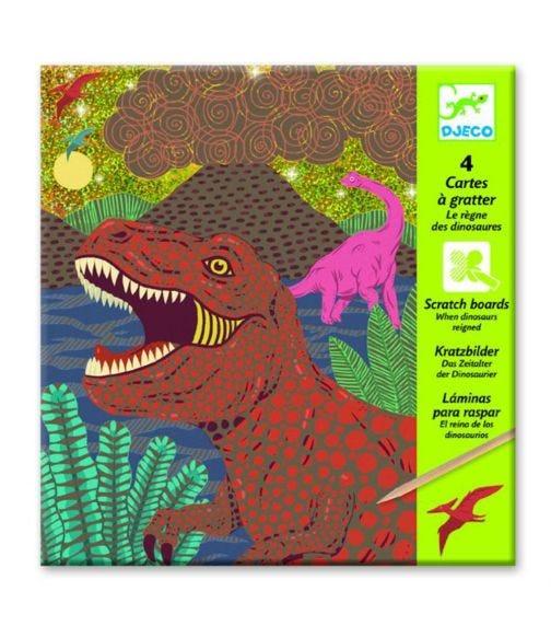DJECO Dinosaurs Reigned Scratch Cards