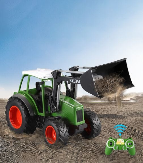 DOUBLE EAGLE 1:16 Agricultural Truck With Bucket