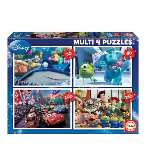 EDUCA Puzzle Set Of 4 Disney Pixar Puzzle