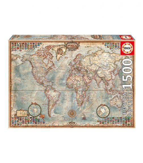 EDUCA Puzzles Political Map Of The World 1500 Pieces