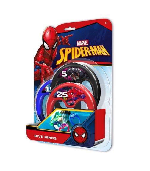 EOLO Marvel Dive Rings Spiderman 3 Pack