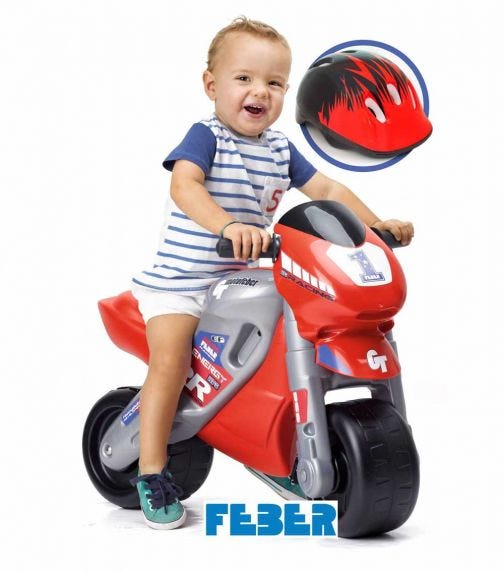 FEBER Ride-On Moto 2 Racing - Red
