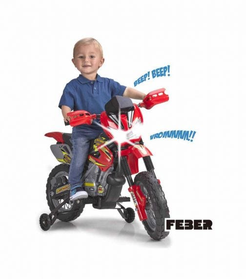 FEBER Ride-On Motorbike Cross Battery-Operated 6V