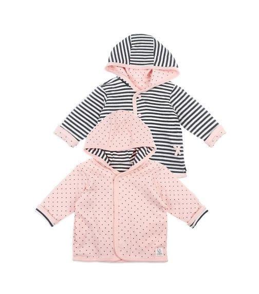 FEETJE Reversible Jacket With Hood - Dots