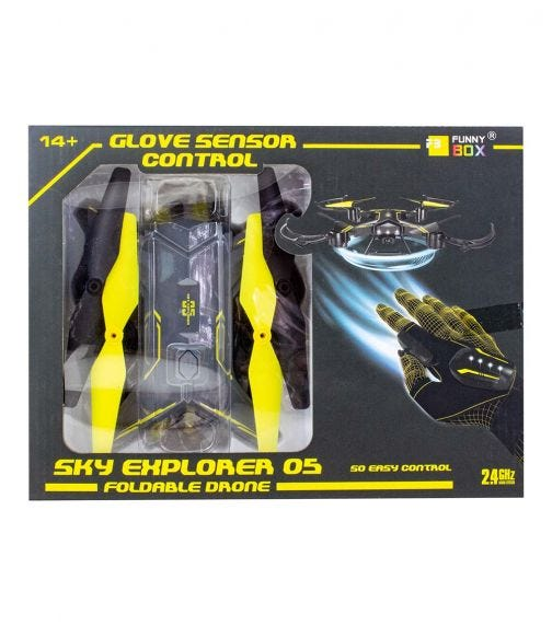 FUNNY BOX Foldable Glove Hand Sensor Drone