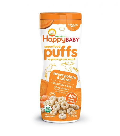 HAPPY FAMILY ORGANIC Superfood Puffs, 60G Pouch