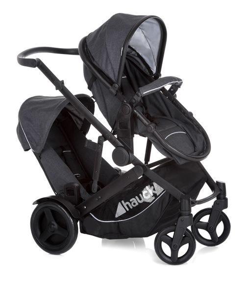 HAUCK Duett 3 Stroller With Raincover - Melange Charcoal